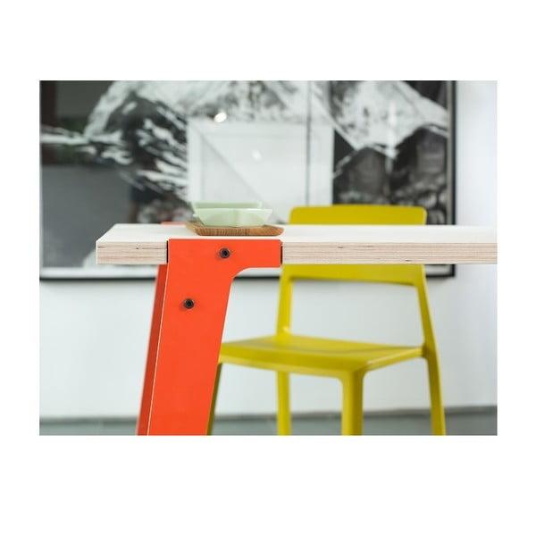 Pomarańczowy stół/biurko rform Switch, blat 122x63 cm