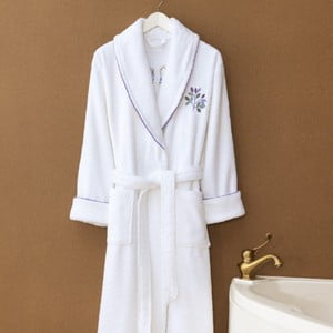 Biały szlafrok unisex Marie Claire, rozmiar L/XL
