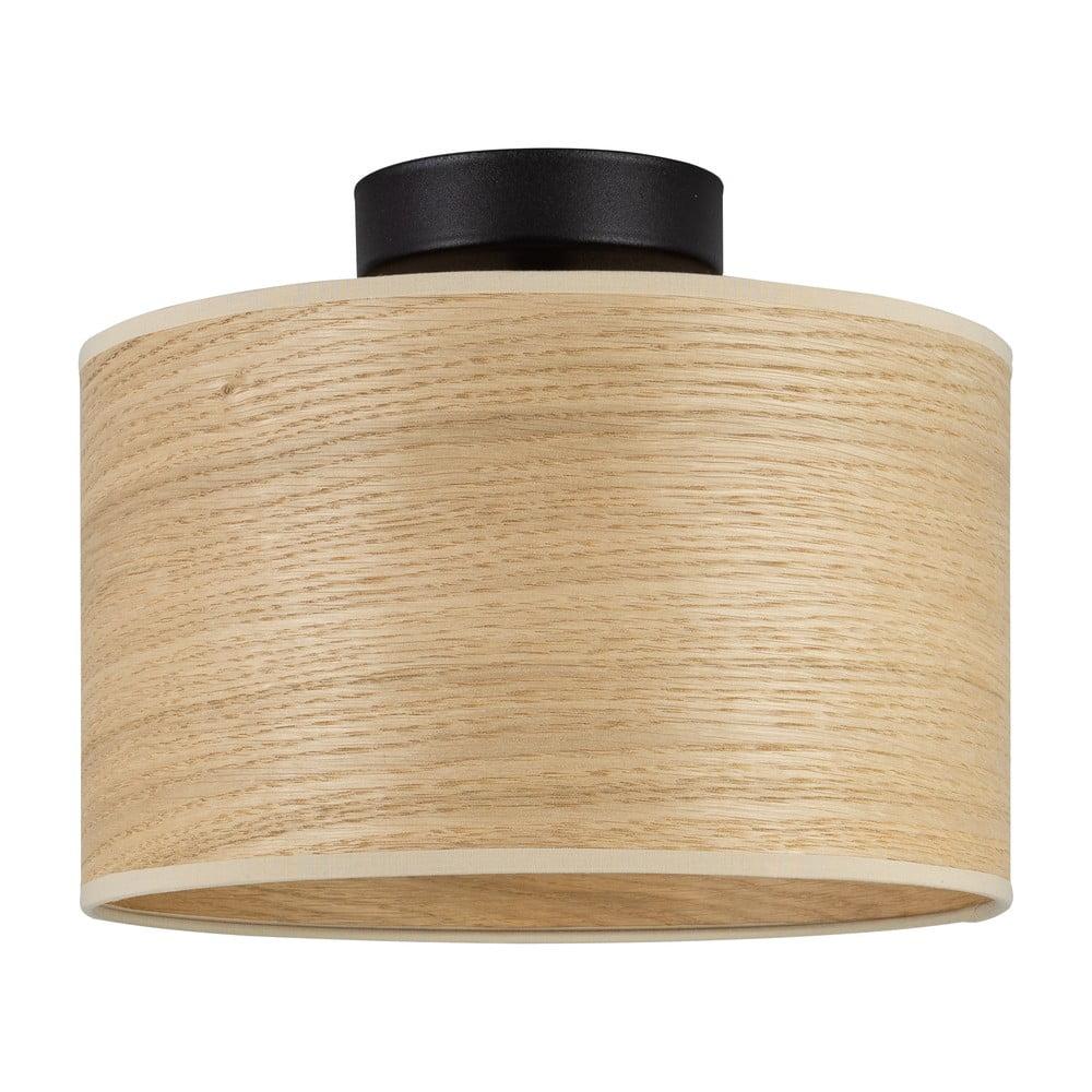 Lampa sufitowa z kloszem z drewna dębowego Sotto Luce TSURI S