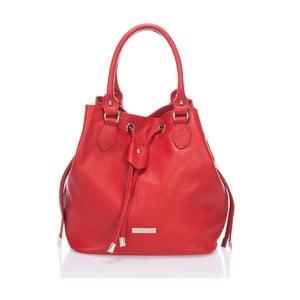 Skórzana torebka Krole Kenna, czerwona