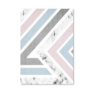 Plakat Geometric Pink Blue