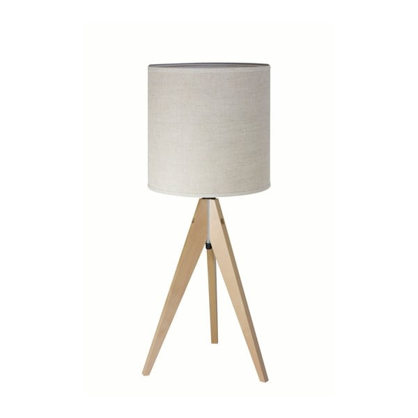 Kremowa lampa stołowa 4room Artist, brzoza, Ø 25 cm
