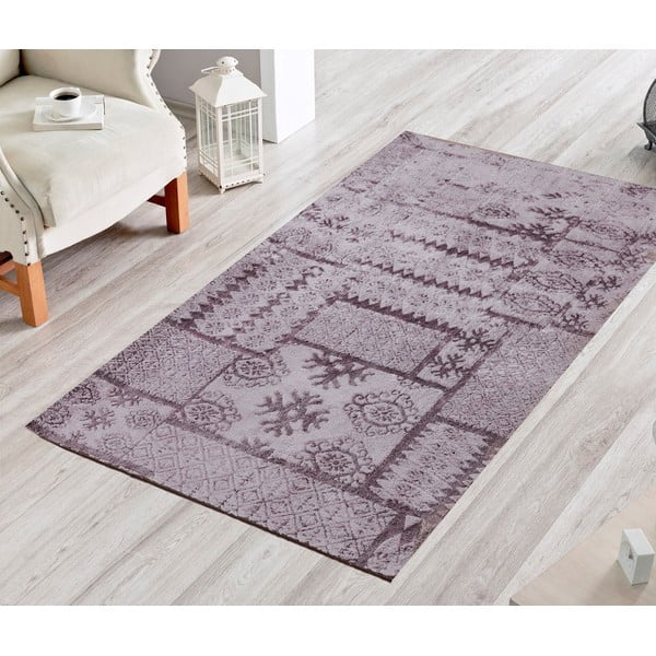 Dywan Naturel Patchwork Gri, 80x300 cm