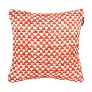 Pomarańczowa poduszka dekoracyjna ZicZac Pyramide, 45x45 cm