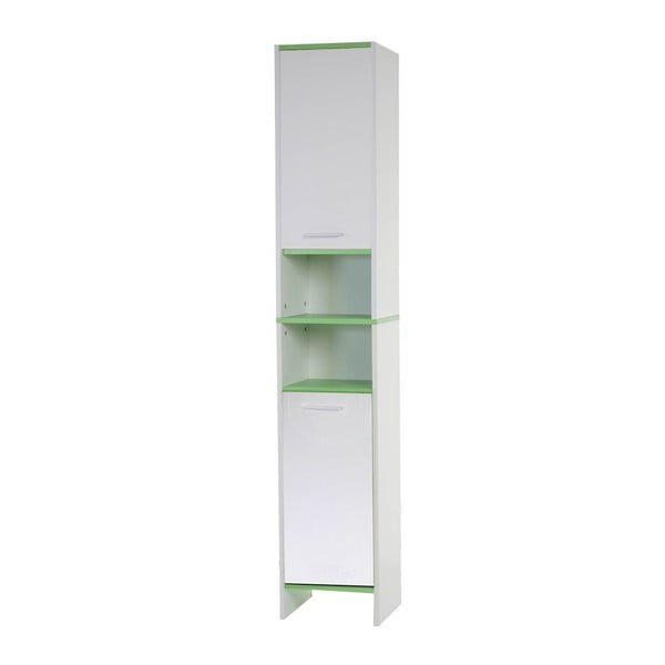 Szafka łazienkowa Sonoma White/Green, 31,5x179 cm