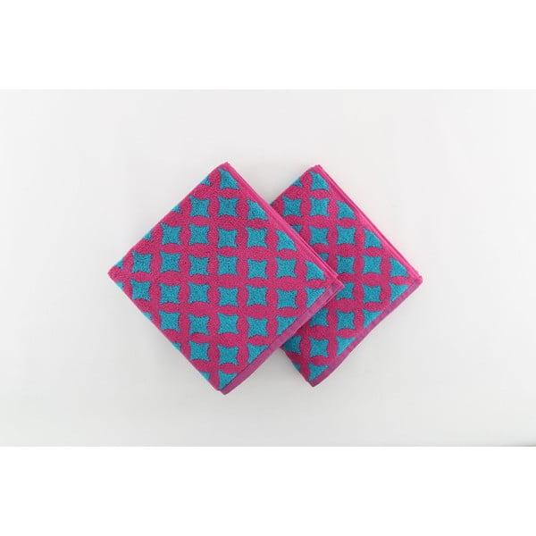 Zestaw 2 ręczników Crazy Vibes Fuchsia, 50x100 cm