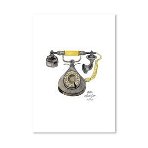 Autorski plakat Rotary Phone, 30x42 m