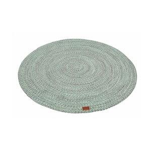 Miętowy okrągły dywan Hawke&Thorn Parker