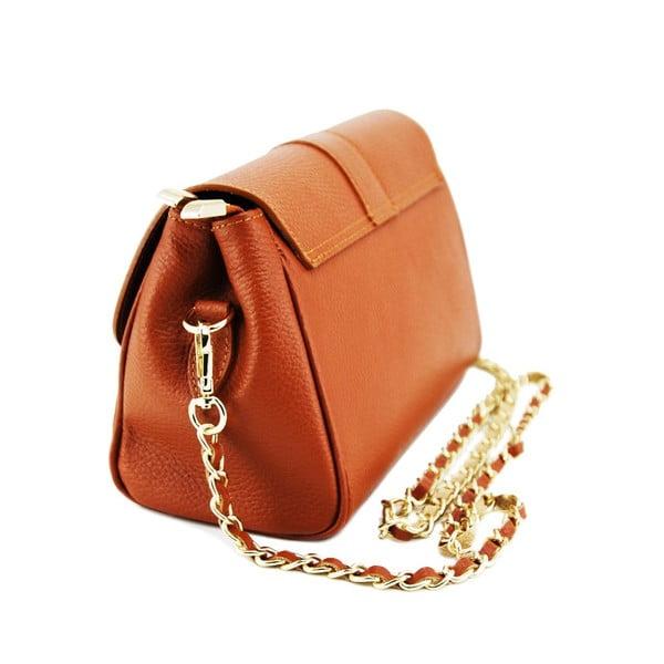 Skórzana torebka Paola Cognac