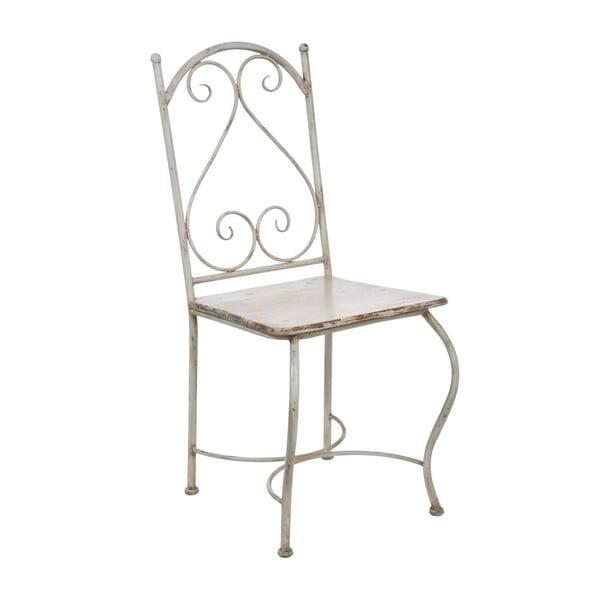 Metalowe krzesło Old Cream