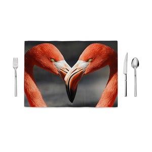 Mata kuchenna Home de Bleu Flamingos Love, 35x49cm
