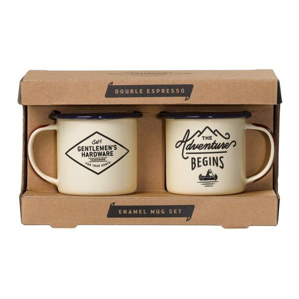 Zestaw 2 kubków emaliowanych do espresso Gentlemen's Hardware, 150 ml