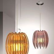 Lampa sufitowa Kendia, różowa