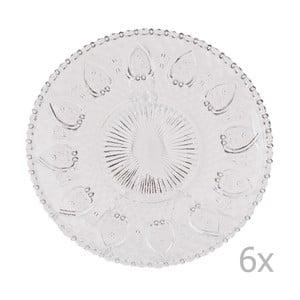 Zestaw 6 szklanych tac Clayre, 20 cm