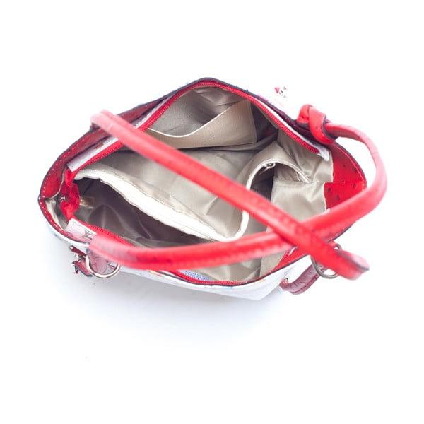 Skórzana torebka Mangotti 902, czerwona