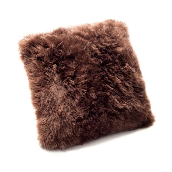 Brązowa poduszka z owczej skóry Royal Dream Sheepskin, 45x45 cm