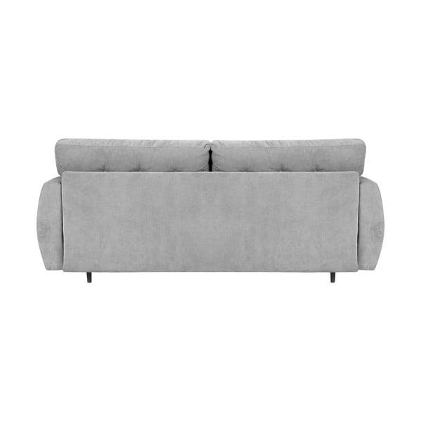 Szara 3-osobowa sofa rozkładana ze schowkiem Cosmopolitan design Rotterdam, 231x98x95 cm
