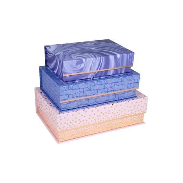 Zestaw 3 prostokątnych pudełek Tri-Coastal Design Sky And Glitters