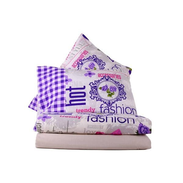 Zestaw:  prześcieradło i poszewka na poduszkę Love Colors Fashion, 160 x 240 cm