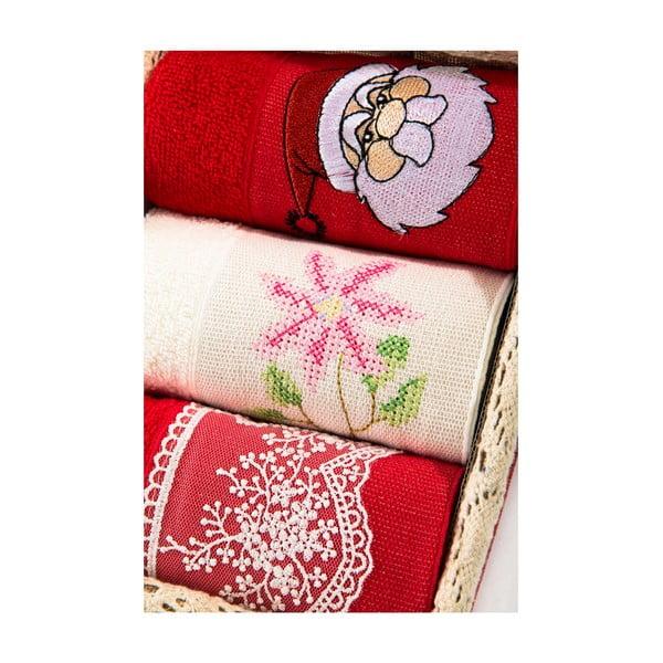 Zestaw 3 ręczników Xmas V20, 30x50 cm