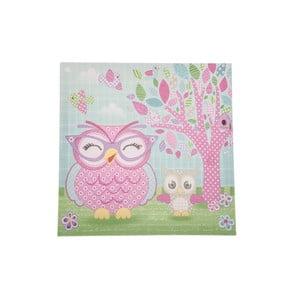 Obraz na płótnie Pink Owl, 36x36 cm