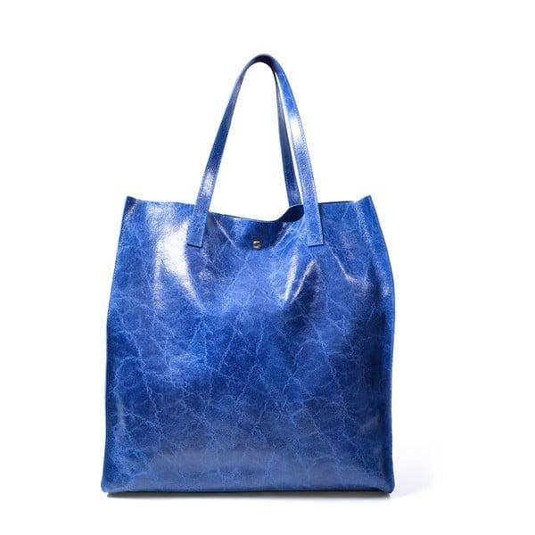 Skórzana torebka Diana, niebieska