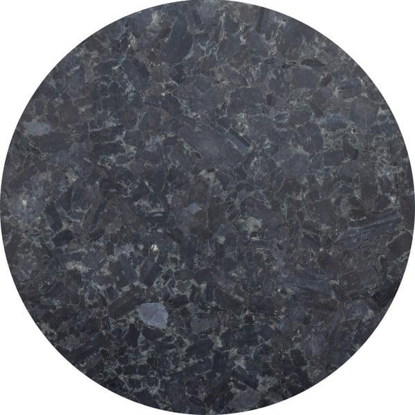 Czarny stolik granitowy z chromowanymi nogami RGE Accent, ⌀85cm