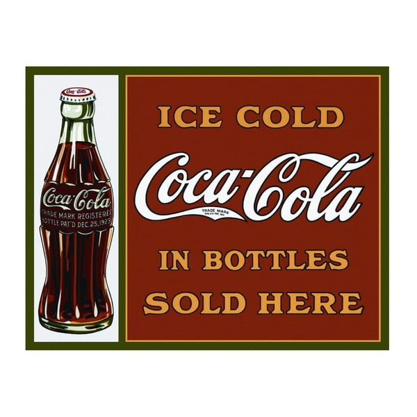 Blaszana tabliczka Coca Cola Here, 30x40 cm