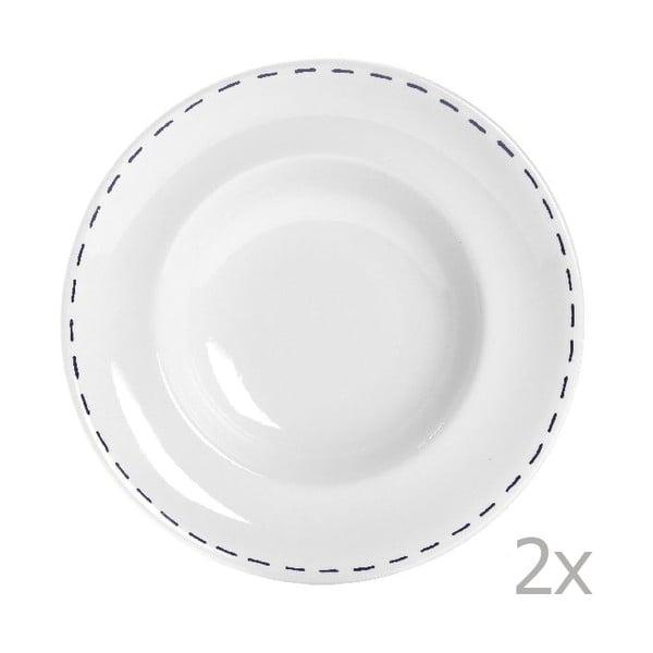 Zestaw 2 talerzy na makaron Sophie Stitch 30,5 cm, niebieski