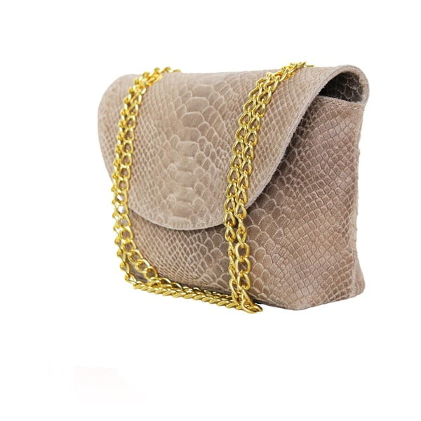 Skórzana torebka Gaia, beżowa