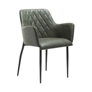 Zielone krzesło z podłokietnikami DAN-FORM Denmark Rombo