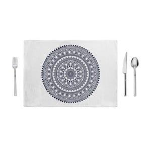 Niebiesko-biała mata kuchenna Home de Bleu Mandala, 35x49cm