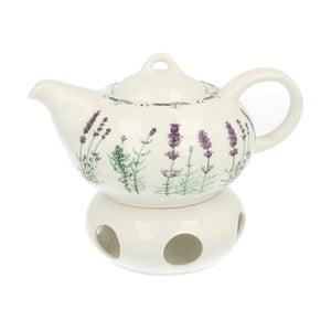 Porcelanowy imbryk z podgrzewaczem Duo Gift Lavender