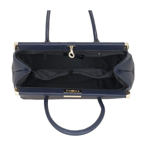 Skórzana torebka Italian Elegance, niebieska