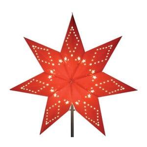 Czerwona gwiazda świecąca bez kabla Best Season Katabo Paper, 43 cm