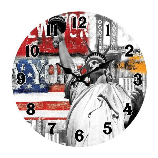 Szklany zegar W Nowym Jorku, 34 cm