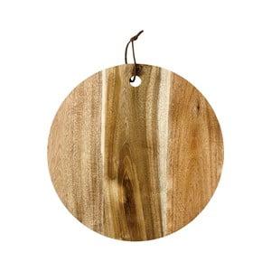 Okrągła deska do serwowania z drewna akacjowego Ladelle, ⌀30cm