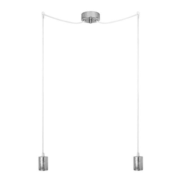 Lampa wisząca podwójna Cero, srebrny/biały/srebrny