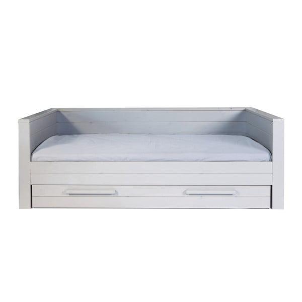 Szare łóżko/sofa Dennis 90x200 cm