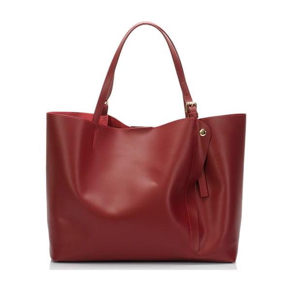 Czerwona torebka skórzana Lisa Minardi Eunice