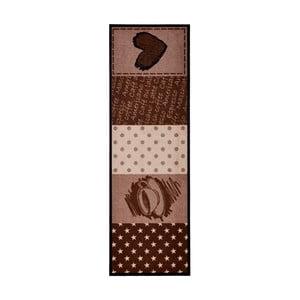 Brązowy dywan do kuchni HanseHomeCoffeeHeart, 50x150cm