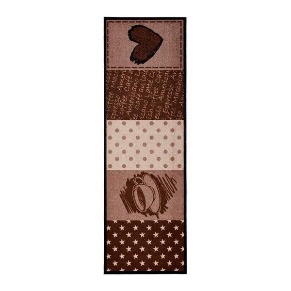 Brązowy chodnik kuchenny Zala LivingCoffeeHeart, 50x150cm