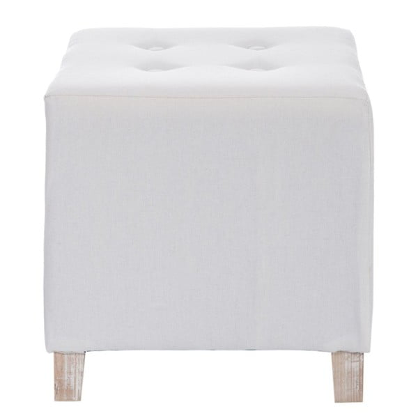 Puf Button White, 34x34x35 cm