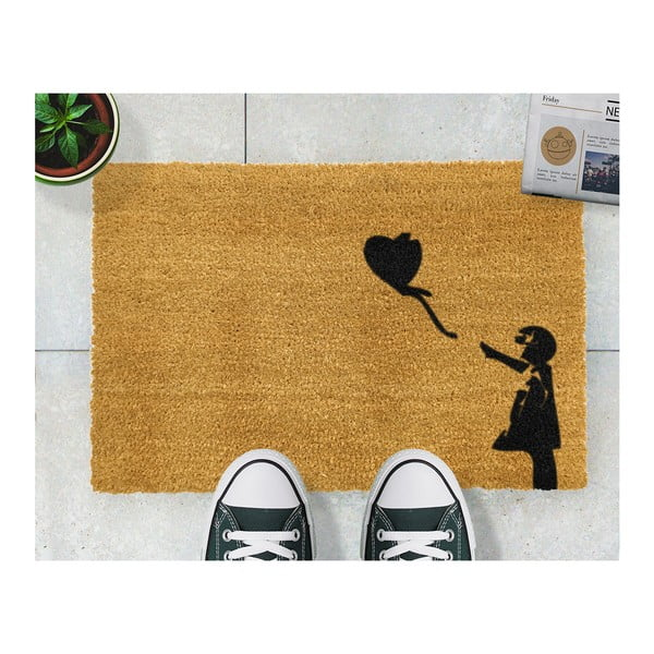 Wycieraczka Artsy Doormats Girl with a Balloon Graffiti, 40x60 cm