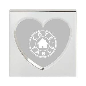 Ramka na zdjęcia Heart Nickel, 11x11 cm