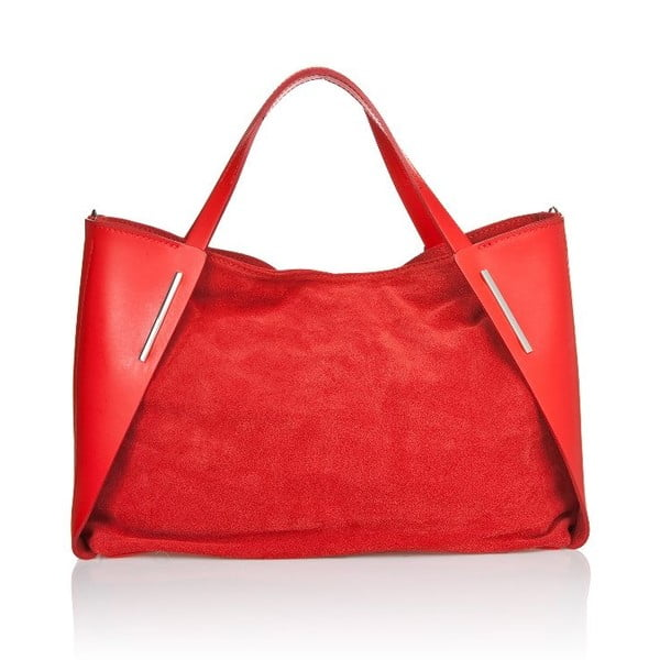 Skórzana torebka Matt Red