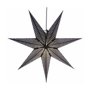 Świecąca gwiazda ze stojakiem Huss Black, 60 cm