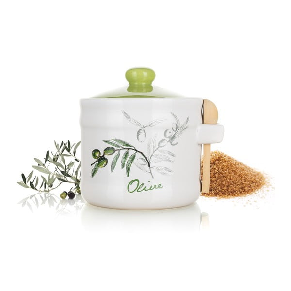 Ceramiczny pojemnik z łyżeczką Banquet Olives