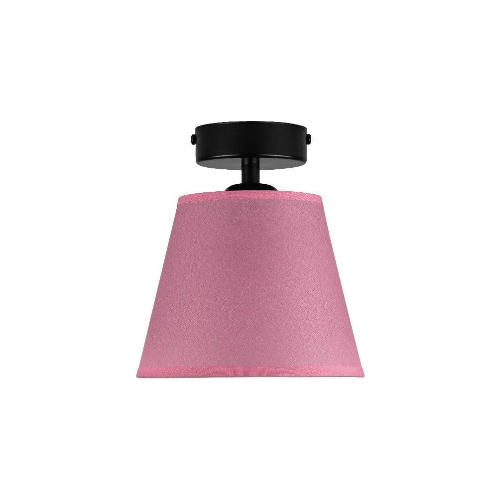 Różowa lampa sufitowa Sotto Luce IRO Parchment, ⌀ 16 cm