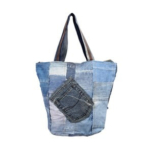 Torebka Blue and White Recycled Denim